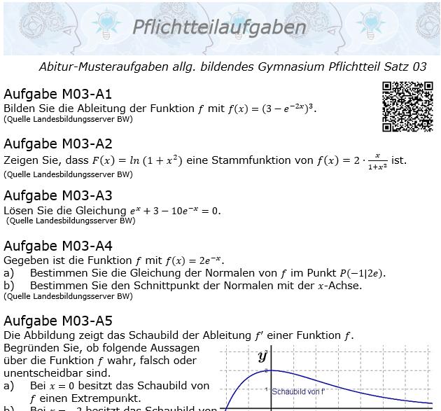 Abitur Pflichtteile ab 2019 Mustersatz 03 allg. bildendes Gymnasium © by www.fit-in-mathe-online