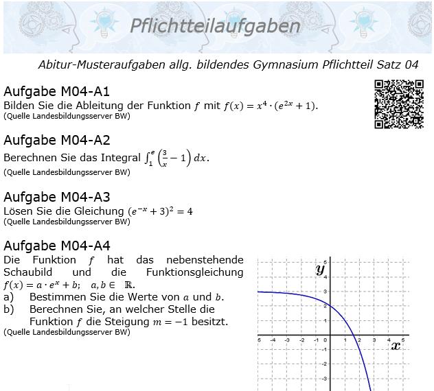 Abitur Pflichtteile ab 2019 Mustersatz 04 allg. bildendes Gymnasium © by www.fit-in-mathe-online