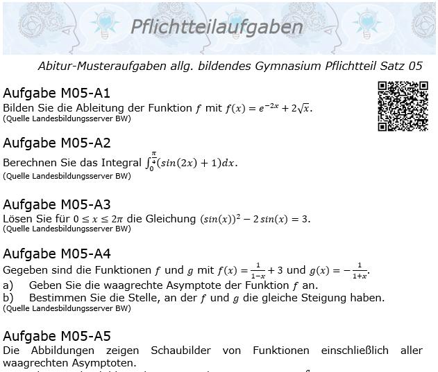 Abitur Pflichtteile ab 2019 Mustersatz 05 allg. bildendes Gymnasium © by www.fit-in-mathe-online