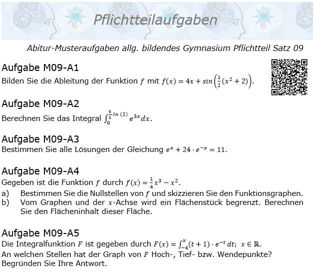 Abitur Pflichtteile ab 2019 Mustersatz 09 allg. bildendes Gymnasium © by www.fit-in-mathe-online