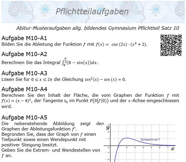 Abitur Pflichtteile ab 2019 Mustersatz 10 allg. bildendes Gymnasium © by www.fit-in-mathe-online