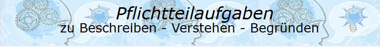 Pflichtteilaufgaben Abitur allgemeinbildendes bildendes Gymnasium zu Beschreiben, Verstehen und Begründen/© by www.fit-in-mathe-online.de