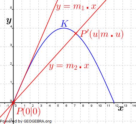 Abitur allg. bildendes Gymnasium Wahlteil Analysis 2006-12 Lösungs-Graphik 1/© by www.fit-in-mathe-online.de