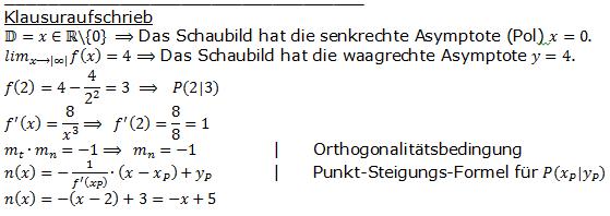 Lösung zur Abituraufgabe allg. bildendes Gymnasium Pflichtteilaufgaben 'Analysis' 2005 Bild 2/© by www.fit-in-mathe-online.de
