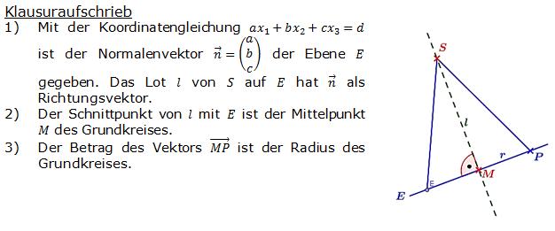 Lösung zur Abituraufgabe allg. bildendes Gymnasium Pflichtteilaufgaben 'Analytische Geometrie' 2007-3 Bild 1/© by www.fit-in-mathe-online.de