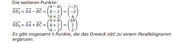 Lösung zur Abituraufgabe allg. bildendes Gymnasium Pflichtteilaufgaben 'Analytische Geometrie' 2015-7 Bild 2/© by www.fit-in-mathe-online.de