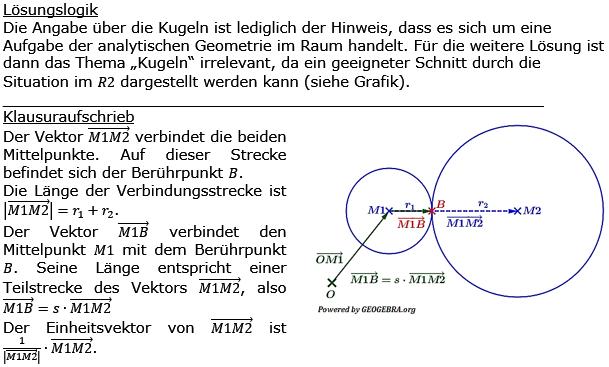 Lösung zur Abituraufgabe allg. bildendes Gymnasium Pflichtteilaufgaben 'Analytische Geometrie' 2016-9 Bild 1/© by www.fit-in-mathe-online.de