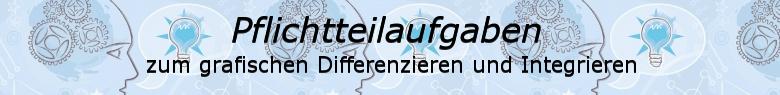 Pflichtteilaufgaben Abitur allgemeinbildendes bildendes Gymnasium zum grafischen Differenzieren und Integrieren/© by www.fit-in-mathe-online.de