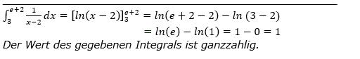 Lösung zur Abituraufgabe allg. bildendes Gymnasium Pflichtteilaufgaben Integral und Stammfunktion 2018 Bild 1/© by www.fit-in-mathe-online.de