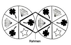 Auf zwei Glücksrädern befinden sich jeweils sechs gleich große Felder: Bei jedem Spiel werden die Räder einmal in Drehung versetzt. (Abitur allg. bildendes Gymnasium Wahlteilaufgaben Stochastik 2013-22/© by www.fit-in-mathe-online.de)