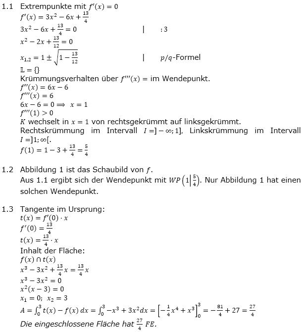 Analysis Abituraufgaben Berufsgymnasium Teil 2 Musteraufgaben