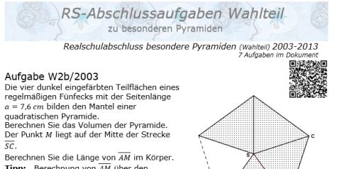 Mantel 5 seitige pyramide