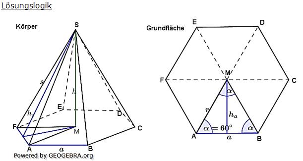 mantelfl che pyramide berechnen pyramide berechnen online volumen oberfl che mantelfl che die. Black Bedroom Furniture Sets. Home Design Ideas