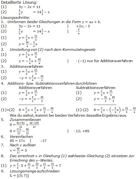 Lineare Gleichungssysteme Übungsaufgaben Realschulabschluss