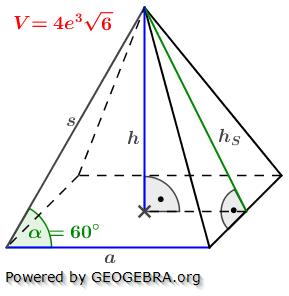 pyramide h berechnen berechnen des oberfl cheninhalts der. Black Bedroom Furniture Sets. Home Design Ideas