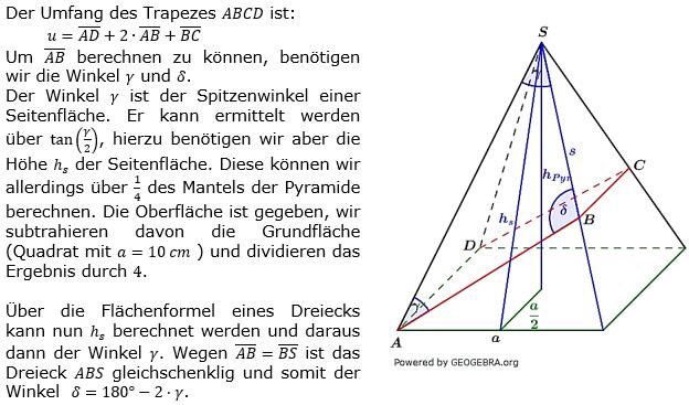 quadratische pyramiden wahlteilaufgaben 2014 2018. Black Bedroom Furniture Sets. Home Design Ideas
