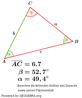 Sinussatz der trigonometrischen Funktionen/© by www.fit-in-mathe-online.de