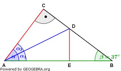 Realschulabschluss Trigonometrie Pflichtteil P12011 Lösungs-Graphik/© by www.fit-in-mathe-online.de
