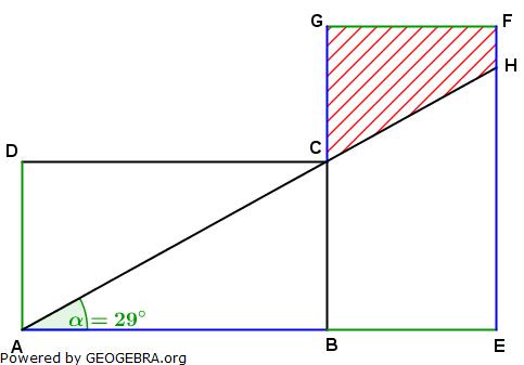 Realschulabschluss Trigonometrie Pflichtteil P12012 Lösungs-Graphik/© by www.fit-in-mathe-online.de