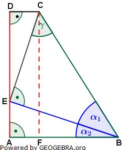 Realschulabschluss Trigonometrie Pflichtteil P12013 Lösungs-Graphik/© by www.fit-in-mathe-online.de