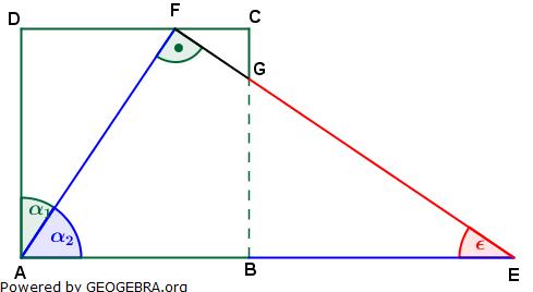 Realschulabschluss Trigonometrie Pflichtteil P22013 Lösungs-Graphik/© by www.fit-in-mathe-online.de