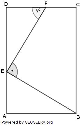 Im Rechteck ABCD gilt: (Realschulabschluss Pflichtteilaufgaben Trigonometrie Aufgabengraphik P12019/© by www.fit-in-mathe-online.de)