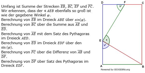 Realschulabschluss Trigonometrie Pflichtteil P191L02 Lösung Bild 1/© by www.fit-in-mathe-online.de