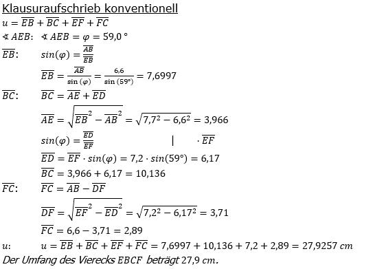 Realschulabschluss Trigonometrie Pflichtteil P19101 Lösung Bild 2/© by www.fit-in-mathe-online.de