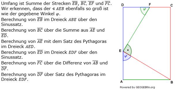 Realschulabschluss Trigonometrie Pflichtteil P12019 Lösung Sinussatz Bild 1/© by www.fit-in-mathe-online.de