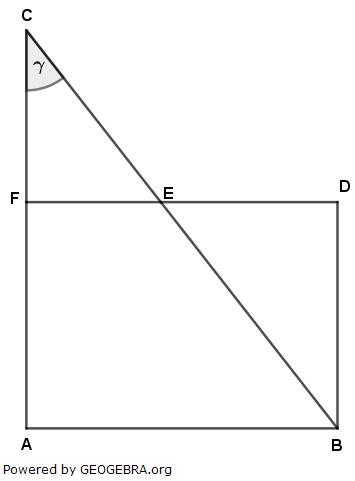 Im Rechteck ABCD gilt: (Realschulabschluss Pflichtteilaufgaben Trigonometrie Aufgabengraphik P22019/© by www.fit-in-mathe-online.de)