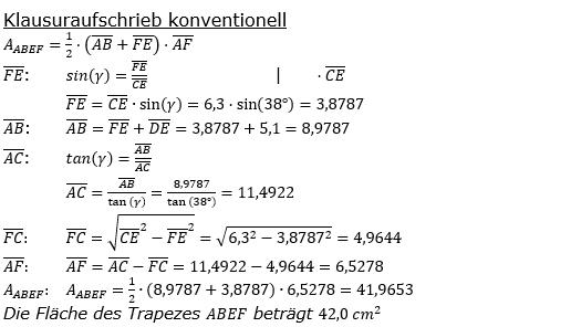 Realschulabschluss Trigonometrie Pflichtteil P22019 Lösung Bild 2/© by www.fit-in-mathe-online.de