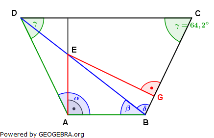 Realschulabschluss Trigonometrie Wahlteil W4a2003 Lösungs-Graphik/© by www.fit-in-mathe-online.de