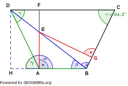 Realschulabschluss Trigonometrie Wahlteil W4a2003 Lösungs-Graphik umständlich/© by www.fit-in-mathe-online.de