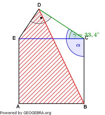 Realschulabschluss Trigonometrie Wahlteil W3a2004 Lösungs-Graphik/© by www.fit-in-mathe-online.de