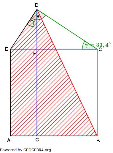 Realschulabschluss Trigonometrie Wahlteil W3a2004 Lösungs-Graphik umständlich/© by www.fit-in-mathe-online.de