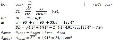 Realschulabschluss Trigonometrie Wahlteil W3a2004 Lösung Bild 4/© by www.fit-in-mathe-online.de