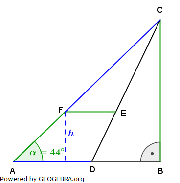 Realschulabschluss Trigonometrie Wahlteil W4b2005 Lösungs-Graphik/© by www.fit-in-mathe-online.de