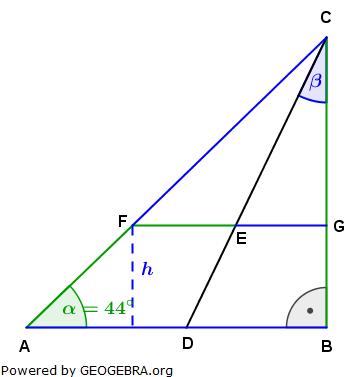 Realschulabschluss Trigonometrie Wahlteil W4b2005 Lösungs-Graphik umständlich/© by www.fit-in-mathe-online.de