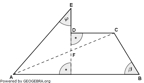 Realschulabschluss Wahlteilaufgaben Trigonometrie Aufgabengraphik W1a2006/© by www.fit-in-mathe-online.de