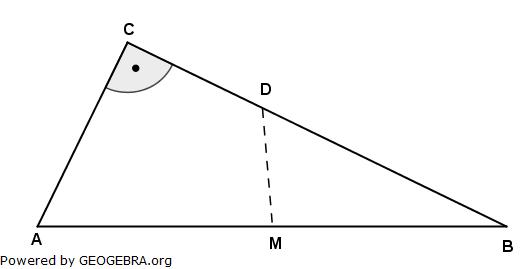Gegeben ist das rechtwinklige Dreieck ABC mit dem Flächeninhalt 34,5 cm^2. (Realschulabschluss Wahlteilaufgaben Trigonometrie Aufgabengraphik W4b2006/© by www.fit-in-mathe-online.de)
