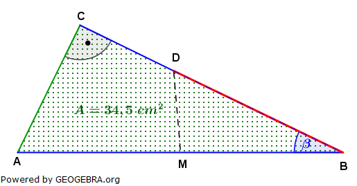 Realschulabschluss Trigonometrie Wahlteil W4b2006 Lösungs-Graphik/© by www.fit-in-mathe-online.de