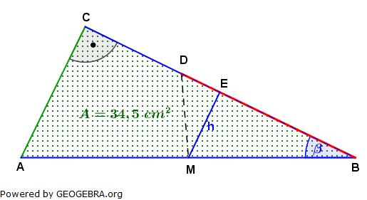 Realschulabschluss Trigonometrie Wahlteil W4b2006 Lösungs-Graphik umständlich/© by www.fit-in-mathe-online.de