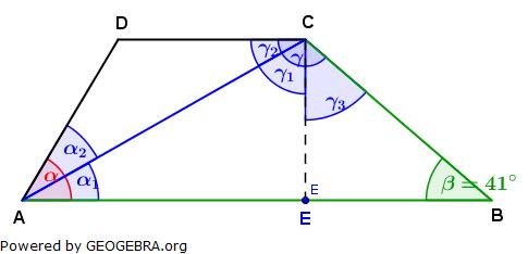 Realschulabschluss Trigonometrie Wahlteil W1a2008 Lösungs-Graphik/© by www.fit-in-mathe-online.de