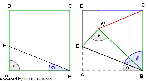 Realschulabschluss Trigonometrie Wahlteil W4b2010 Lösungs-Graphik/© by www.fit-in-mathe-online.de