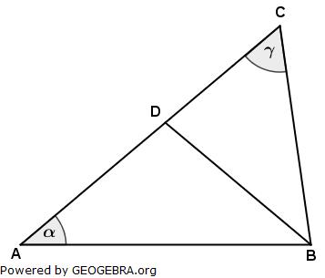 Im Dreieck ABC gilt: (Realschulabschluss Wahlteilaufgaben Trigonometrie Aufgabengraphik W1a2011/© by www.fit-in-mathe-online.de)