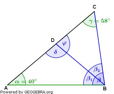 Realschulabschluss Trigonometrie Wahlteil W1a2011 Lösungs-Graphik/© by www.fit-in-mathe-online.de