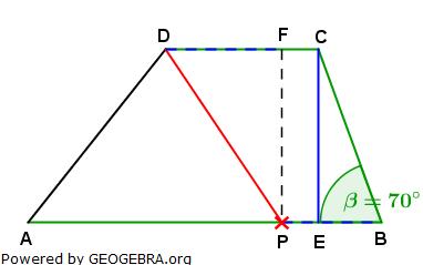 Realschulabschluss Trigonometrie Wahlteil W1a2012 Lösungs-Graphik/© by www.fit-in-mathe-online.de