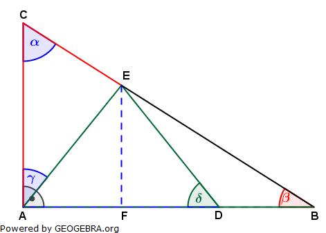 Realschulabschluss Trigonometrie Wahlteil W1a2013 Lösungs-Graphik/© by www.fit-in-mathe-online.de