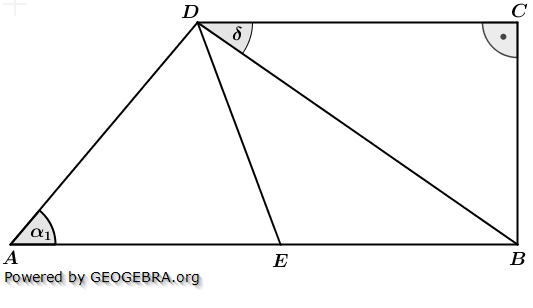 Realschulabschluss Wahlteilaufgaben Trigonometrie Aufgabengraphik W1a2015/© by www.fit-in-mathe-online.de
