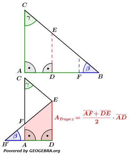 Realschulabschluss Trigonometrie Wahlteil W1b2016 Lösungs-Graphik/© by www.fit-in-mathe-online.de